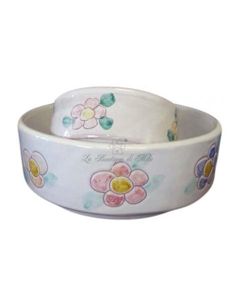 Ciotola in Ceramica Small Flowers