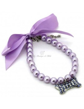 Collier in Perle Violetta