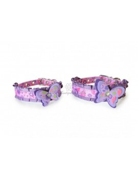 Set Collare e Guinzaglio Purple Butterfly