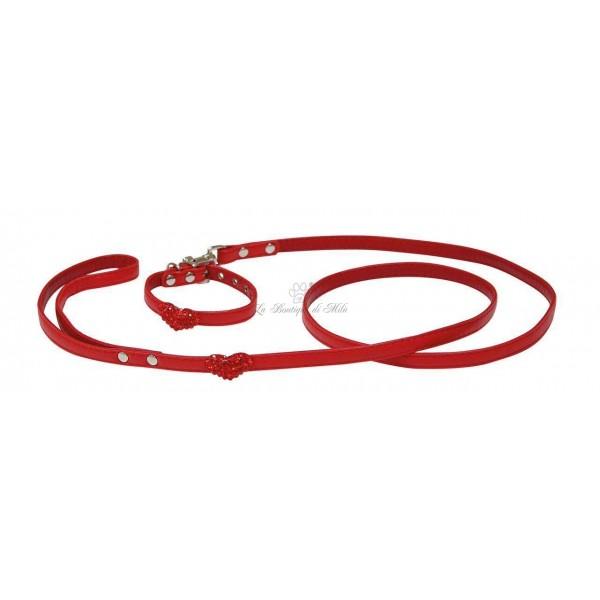 Set Collare e Guinzaglio Red Heart