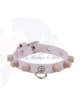 SD Studded Collar Pink Sparkling Dog