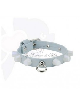 SD Studded Collar Light Blue Sparkling Dog