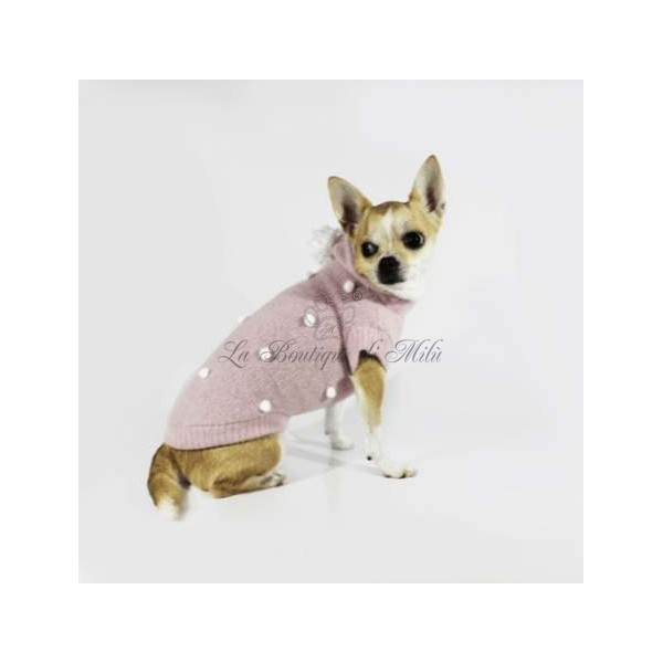 Winter Pull Pink Sparkling Dog