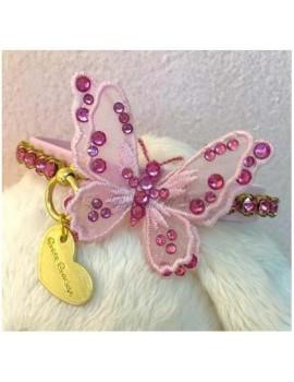3D Precious Butterfly Collar Pink Grace Graciola
