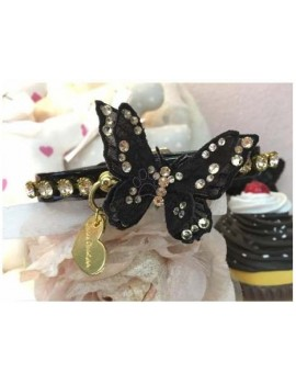 3D Precious Butterfly Collar Black Grace Graciola