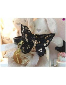 3D Butterfly Collar Black Grace Graciola
