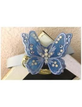3D Butterfly Baby Blue Collar White Grace Graciola