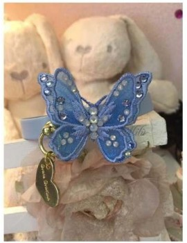 3D Butterfly Collar Baby Blue Grace Graciola