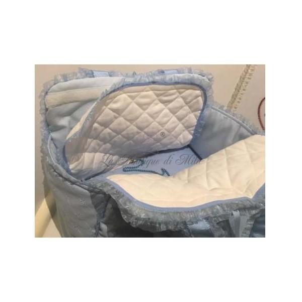 Borsa Trasportino Mon Amour De Luxe Baby Blue San Gallo Grace Graciola
