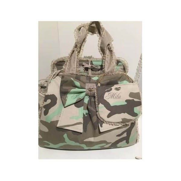 Borsa Trasportino Mon Amour De Luxe Camouflage Grace Graciola