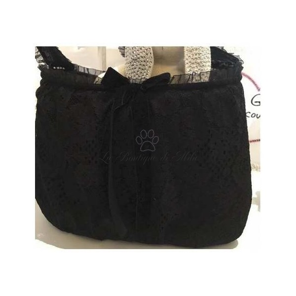 Borsa Trasportino Very Lace Black Bag Grace Graciola