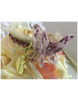3D Romantic Precious Butterfly Collar Perl Rose Grace Graciola
