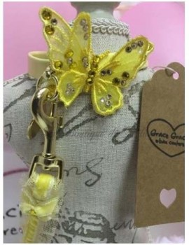 3D Butterfly Collar Yellow Grace Graciola