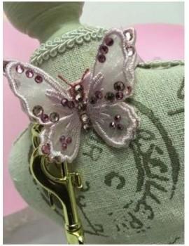 3D Butterfly Collar Pink Grace Graciola