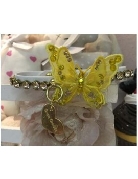 3D Precious Butterfly Yellow Collar White Grace Graciola