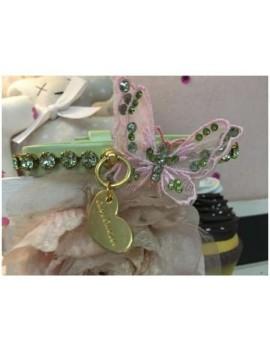 3D Precious Butterfly Pink Collar Green Grace Graciola