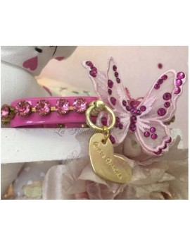 3D Precious Butterfly Collar Bubble Pink Grace Graciola