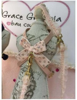 Sparkling Bow Peach Harness Grace Graciola