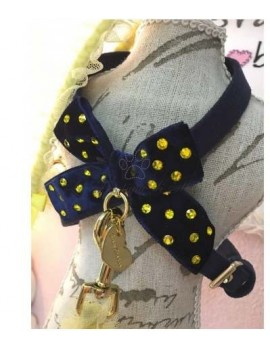 Blue & Yellow Bow Harness Grace Graciola