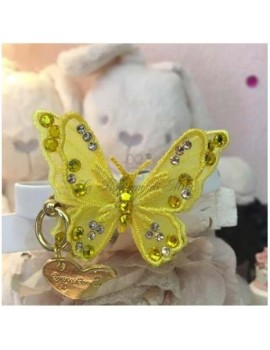 3D Butterfly Yellow Collar White Grace Graciola