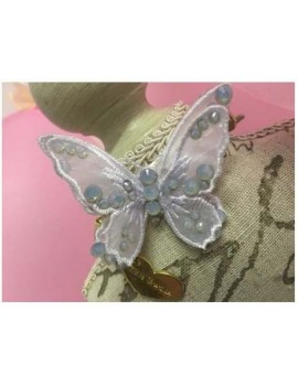3D Butterfly Collar White Grace Graciola