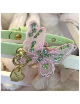 3D Butterfly Pink Collar Green Grace Graciola