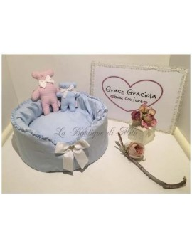 Little Light Blue Sleeping Bed LIMITED EDITION Grace Graciola