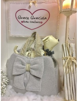Borsa Trasportino Mon Amour in Wool Grace Graciola