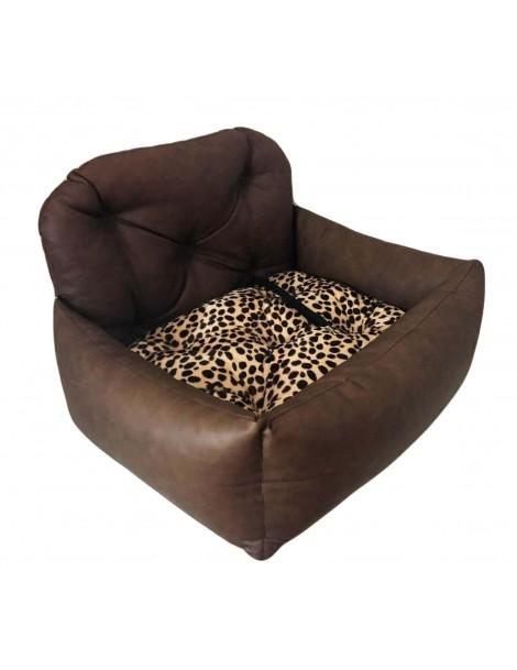 Seggiolino Trasportino per Auto BIG Luxury Choco Leopard