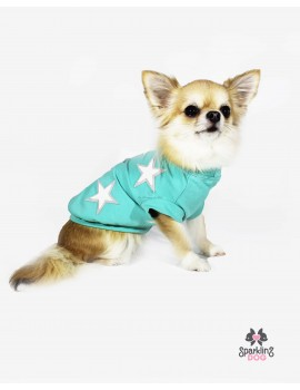 Stars T-Shirt Mint Sparkling Dog