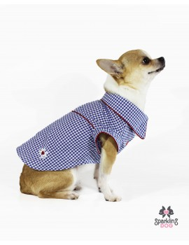 Picnic Shirt Blue Sparkling Dog