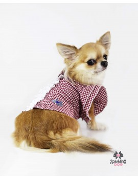 Picnic Girly Shirt Red Sparkling Dog