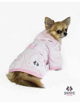 My Private Bathrobe Pink Sparkling Dog