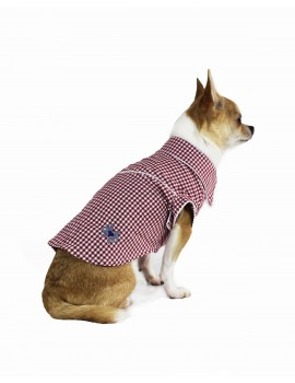 Picnic Shirt Red Sparkling Dog