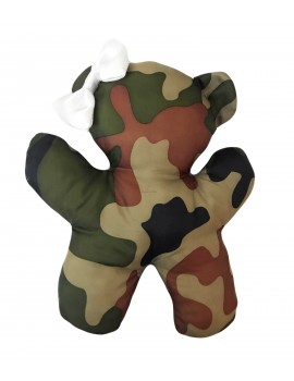 Gioco in Peluche Teddy Bear White Army Camouflage