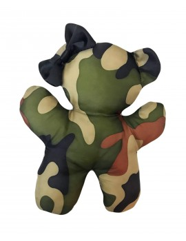 Gioco in Peluche Teddy Bear Black Army Camouflage