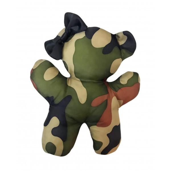 Gioco in Peluche Teddy Bear Black Army Camouflage
