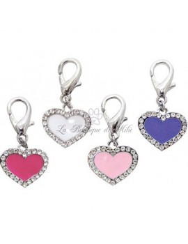 Enamel Heart D-Ring