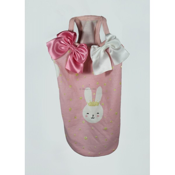 Bunny Long T-Shirt Pink Sparkling Dog