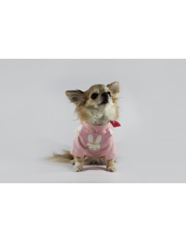 Bunny Long Sleeved Shirt Pink Sparkling Dog