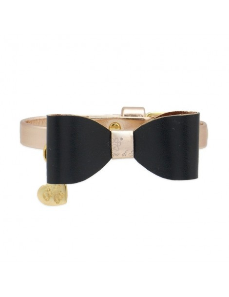 PAPILLON COLLAR ROSE GOLD ECOLEATHER/GOLD Piccoli Pets