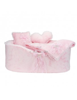 ONLY COVER OF PRECIOUS BOW BED PINK Piccoli Pets