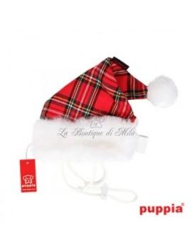 Cappellino Santa Claus Puppia motivo scozzese