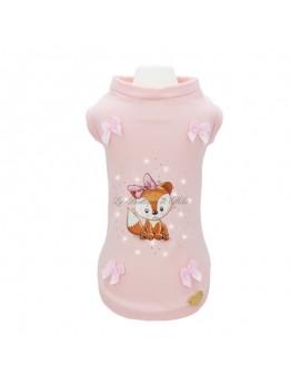 Piccoli Pets LOVELY FOX T-SHIRT BABY PINK