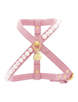 Piccoli Pets CANDY PEARLS HARNESS MAGIC PINK/GOLD