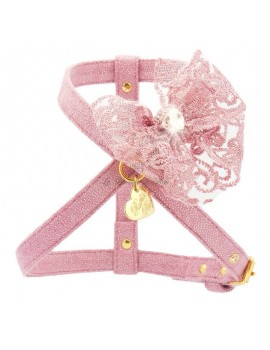 Piccoli Pets DOUBLE BOW HARNESS MAGIC PINK/GOLD