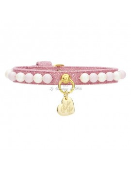 Piccoli Pets CANDY PEARLS COLLAR MAGIC PINK/GOLD