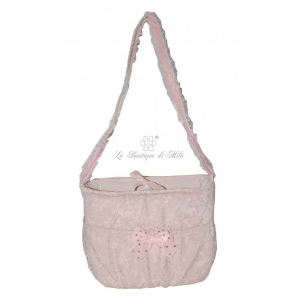 Grace Graciola Peach Lace Bag
