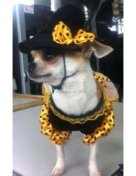 Maschera Cane Chihuahua Chiwawa Lattice Costume Halloween Costume da cane Animale Pet